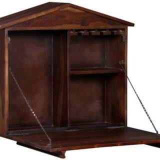 Wooden Bar Cabinet Wall Mount- BAR-0002