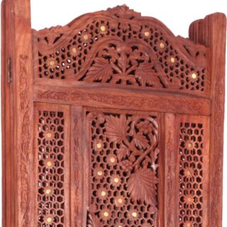 Leaf Carving Wooden Room Divider PART-0032
